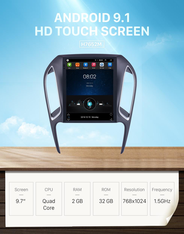 Seicane Pour 2016 2017 2018 Chery Arrizo 5 Radio 9,7 pouces Android 9.1 Navigation GPS avec écran tactile HD support Bluetooth Carplay caméra arrière