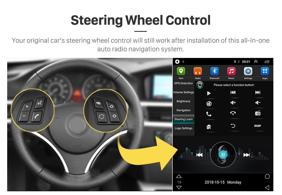Seicane Android 9.1 de 9.7 pulgadas para 2008 2009 2010-2015 Buick New Excelle Radio GPS Navigation con pantalla táctil HD Soporte Bluetooth Carplay TPMS