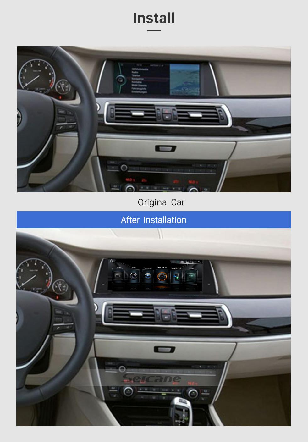 Seicane Android 9,0 10,25 дюйма для BMW 5 серии F07 GT (2011-2012) CIC Radio HD Сенсорный GPS-навигатор с поддержкой Bluetooth Carplay DVR