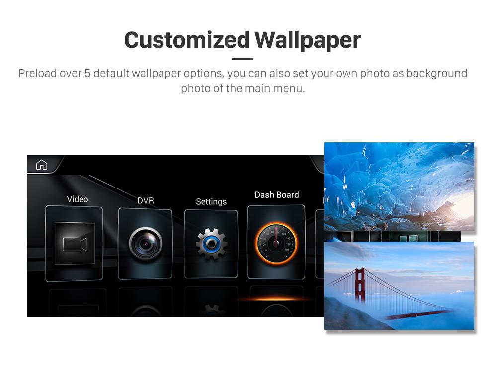 Seicane 10,25-дюймовый Android 9.0 для BMW 5 серии F07 GT (2013-2017) GPS-навигатор NBT с поддержкой HD и сенсорным экраном Поддержка Bluetooth Carplay
