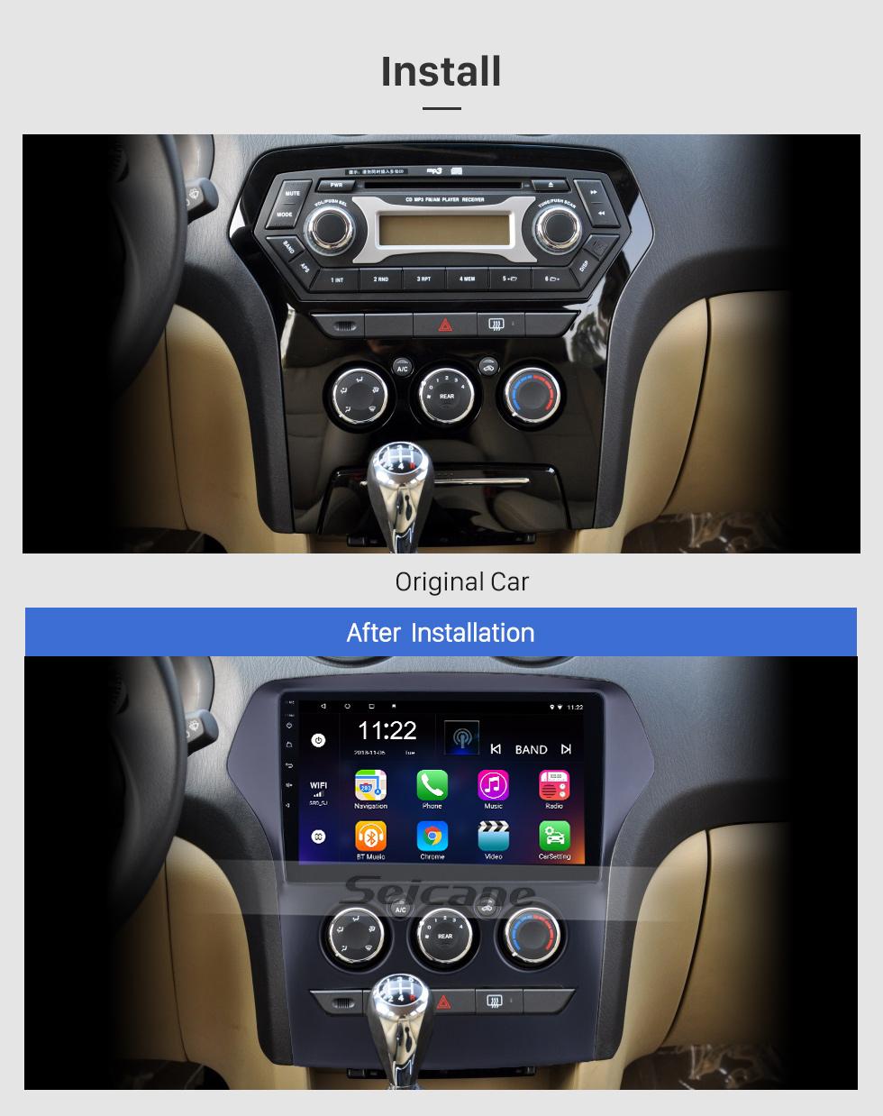 Seicane 10.1 pouces Android 8.1 pour 2011 JMC Old Yusheng Radio Navigation GPS avec écran tactile HD WIFI Bluetooth support Carplay DVR