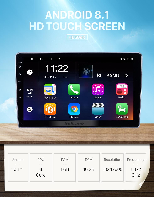 Seicane 10,1 polegadas Android 8.1 para 2007 2008 2009-2012 Lifan 520 Rádio Sistema de Navegação GPS Com HD Touchscreen Suporte Bluetooth Carplay DVR