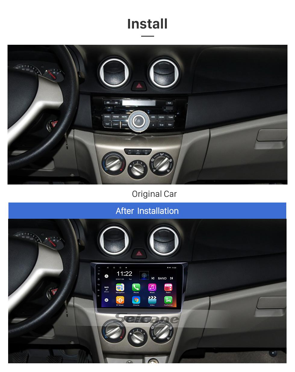 Seicane Für 2011 Changan Alsvin V3 Radio 9 Zoll Android 8.1 HD Touchscreen GPS-Navigationssystem mit Bluetooth-Unterstützung Carplay SWC