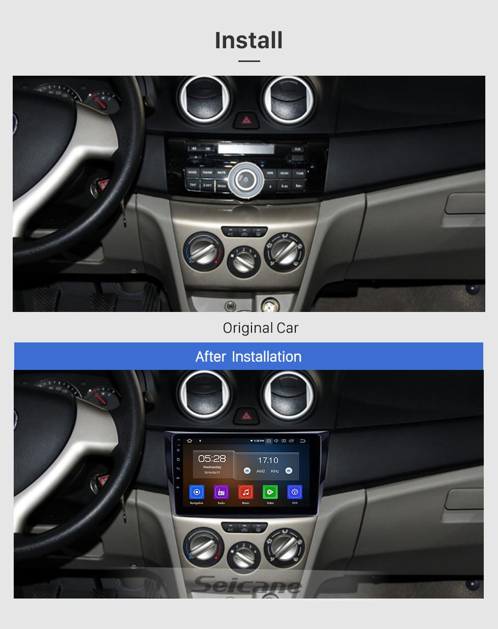 Seicane В 2011 году Changan Alsvin V3 Radio 9-дюймовый Android 9.0 HD с сенсорным экраном Bluetooth с системой GPS-навигации Carplay поддерживает 1080P видео