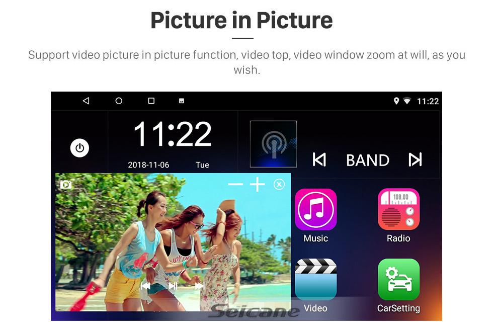 Seicane 9 pulgadas Chevrolet Chevrolet S10 2015-2018 ISUZU D-Max Android 10.0 Radio sistema de navegación GPS HD 1024 * 600 pantalla táctil Bluetooth DVR Cámara de visión trasera TV OBD2 WIFI Control del volante USB Enlace del espejo