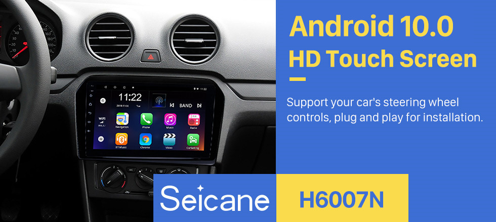 Seicane 9 inch 2012-2015 VW Volkswagen Jetta HD touchscreen Android 10.0 GPS Navigation System Bluetooth Support FM/AM/RDS Radio Carplay WIFI OBD II