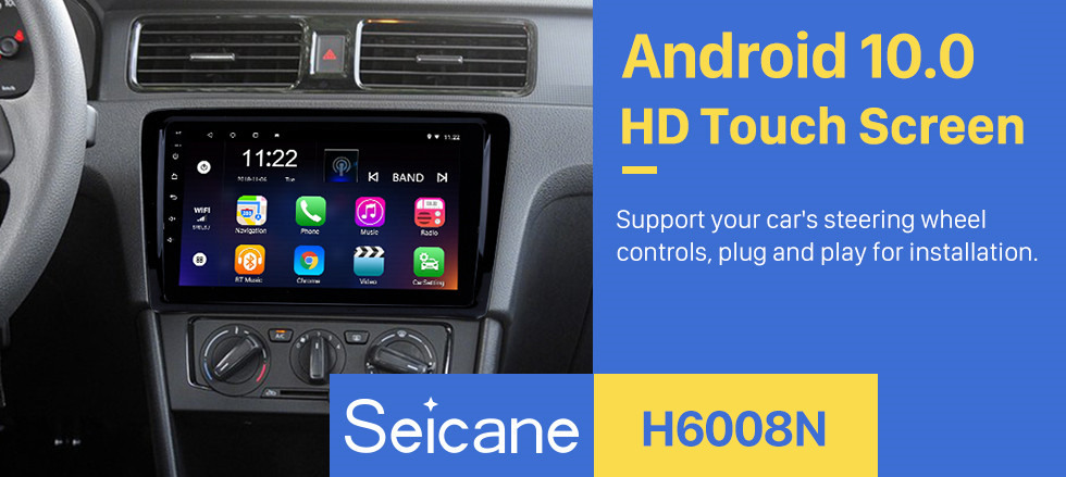 Seicane 9 inch 2012 2013 2014 2015 Volkswagen Santana Android 10.0 GPS Navi auto stereo HD touchscreen Bluetooth WIFI Support 3G WIFI DVR
