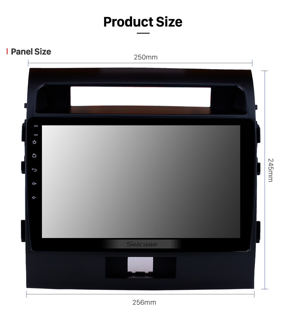 Seicane 2007-2017 Toyota Cruiser FJ 10.1 inch Android 10.0 Radio GPS Navigation System with Touchscreen Bluetooth OBD2 3G WiFi AUX Steering Wheel Control