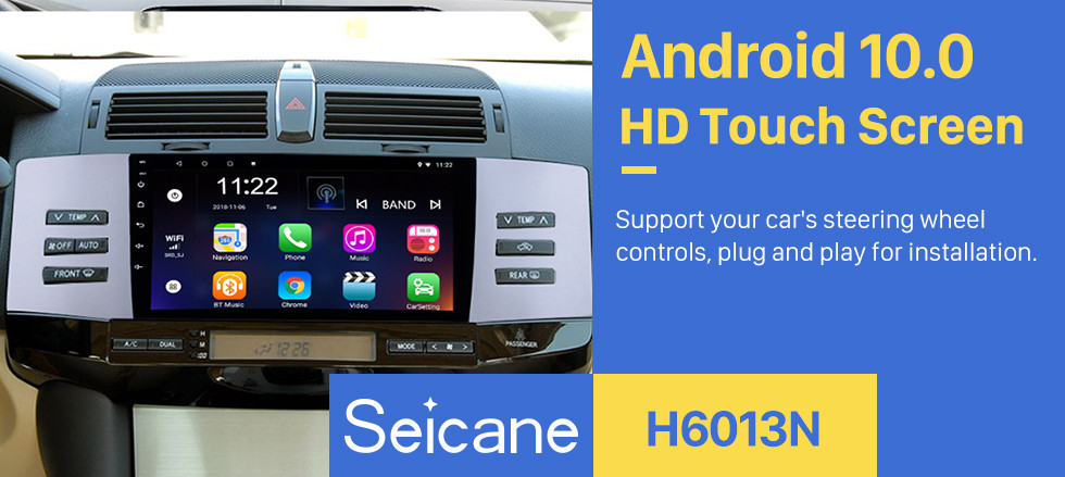 Seicane 9 Inch Android 10.0 2005-2009 Toyota Old REIZ HD Touchscreen GPS Navigation System Head Unit Support 3G WiFi Bluetooth TPMS DVR OBD II Rear View camera AUX Video