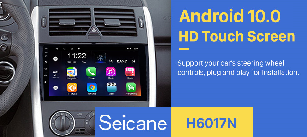 Seicane OEM 9 inch 2018 VW Volkswagen Universal Android 10.0 HD Touch Screen GPS Navigation System Radio Support TPM DVR 3G WiFi Carplay Remote Control Bluetooth