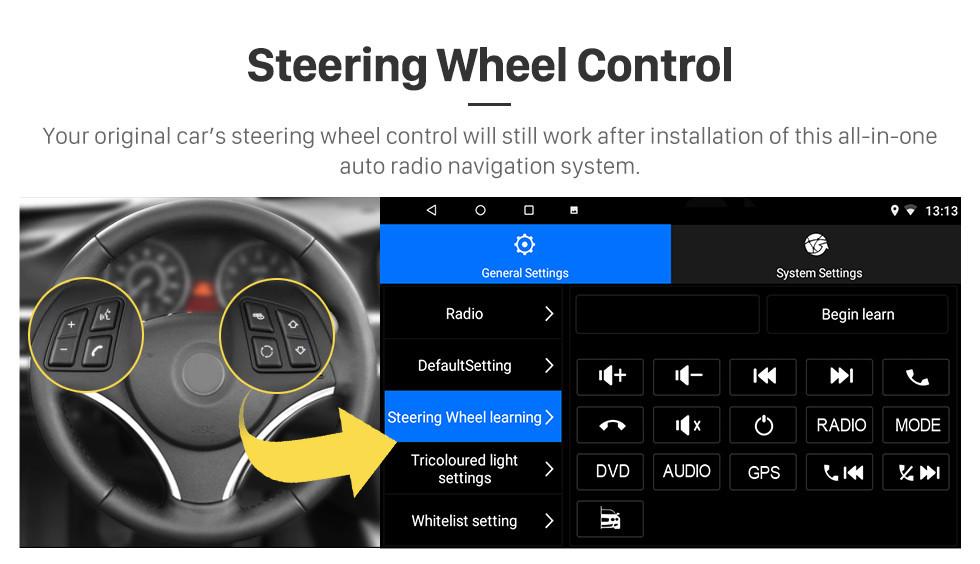 Seicane 10,1 pulgadas Android 10.0 2017 Toyota Corolla Conducción con la mano derecha Coche Unidad principal HD Pantalla táctil Radio Sistema de navegación GPS Soporte 3G Wifi Cámara de visión trasera Vídeo Carplay Bluetooth DVR OBD II
