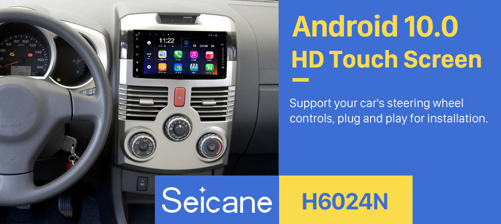 Seicane 7 inch Android 10.0  TOYOTA HIACE universal HD Touchscreen Radio GPS Navigation System Support Bluetooth Carplay OBD2 DVR 3G WiFi Steering Wheel Control