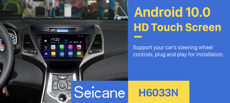 Seicane 9 inch 2014 2015 2016 Hyundai Elantra Auto radio GPS Navigation Bluetooth Touch screen Car Stereo TV Tuner Rearview Camera AUX IPOD MP3