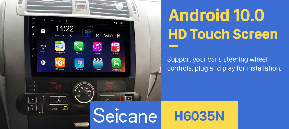 Seicane 9 Inch Android 10.0 Touch Screen radio Bluetooth GPS Navigation system For 2008-2016 KIA Borrego with TPMS DVR OBD II USB 3G WiFi Rear camera Steering Wheel Control HD 1080P Video AUX