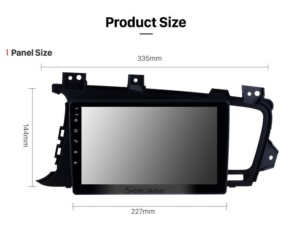 Seicane 9 inch 2011 2012 2013 2014 Kia k5 LHD Android 10.0 HD touchscreen Radio GPS Navigation System with Bluetooth Steering Wheel Control Digital TV Mirror Link Backup Camera TPMS