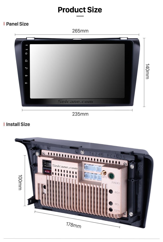 Seicane 9 Zoll 2004 2005 2006-2009 Mazda 3 Android 8.1 GPS-Navigationsauto-Radio Bluetooth Unterstützung USB SD 3G WIFI Unterstützungskamera DVR OBD2 Lenkradsteuerung