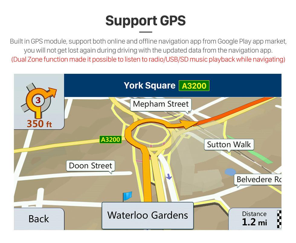 Seicane 9 pulgadas 2004 2005 2006-2009 Mazda 3 Android 8.1 Navegación GPS Radio de coche Soporte Bluetooth USB SD 3G WIFI Cámara de respaldo DVR OBD2 Control del volante