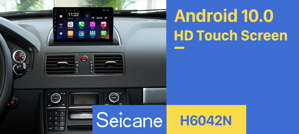 Seicane HD Touchscreen for 2004 2005 2006-2014 Volvo XC90 Android10.0 9 inch Radio GPS Navigation System with Bluetooth WIFI USB support Carplay Digital TV