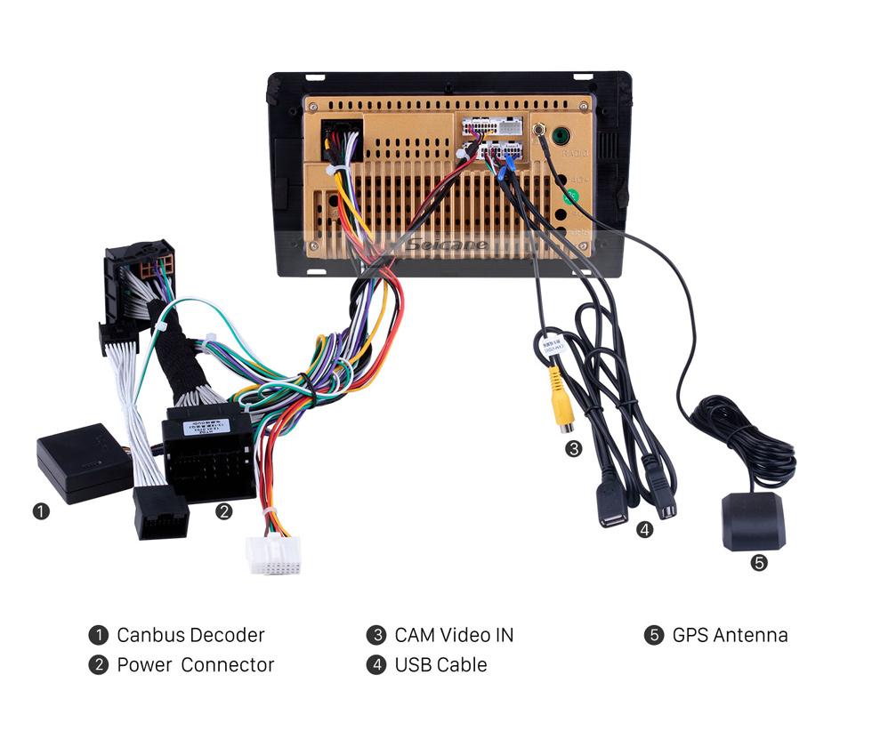 Seicane 2013-2017 AUDI Q3 Android 10.0 9-дюймовый HD сенсорный экран Bluetooth GPS Навигационная система авто Поддержка радио 3G WIFI Камера заднего вида DAB + DVR Цифровое ТВ Управление рулевого колеса OBD2