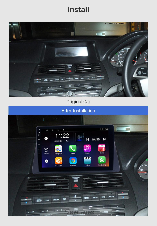 Seicane 10.1 inch 2008 2009 2010 2011 2012 Honda accord 8 Android 10.0 Radio GPS Navigation Bluetooth Music WIFI USB Mirror Link Car Stereo Support DVR OBD2 Steering Wheel Control Backup Camera