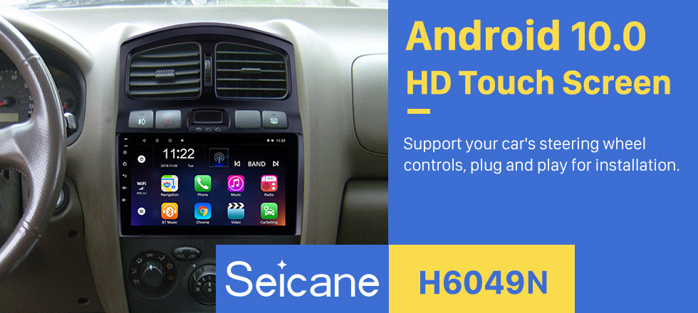 Seicane 9 inch 2005-2015 Hyundai Classic Santa Fe HD Touch screen Head Unit GPS Navigation AUX MP3 Bluetooth Car Stereo TV Tuner Rearview Camera