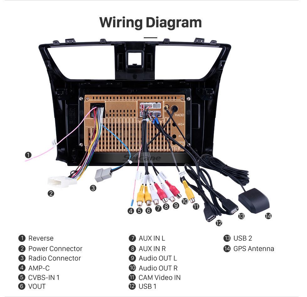 Seicane 10,1 polegadas 2012-2016 Nissan Sylphy Android 10.0 HD Touchscreen GPS Navi unidade de cabeça Rádio USB Bluetooth Suporte WIFI Link Espelho DVR OBD2 TPMS Aux