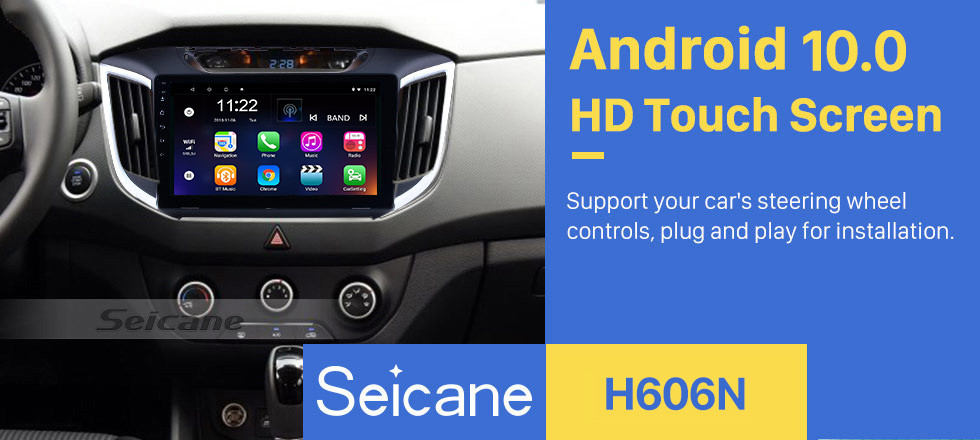 Seicane 2014 2015 Hyundai IX25 Android 10.0 10.1 inch HD touchscreen Radio GPS Navi USB Bluetooth WIFI OBD2 Mirror Link Rearview camera