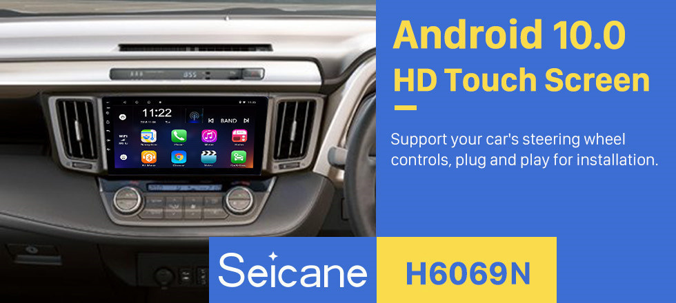 Seicane Aftermarket 9 inch 2013-2018 Toyota RAV4 Right hand driving GPS Navigation System Android 10.0 Radio Touch Screen support TPMS DVR OBD Mirror Link Bluetooth 3G WiFi