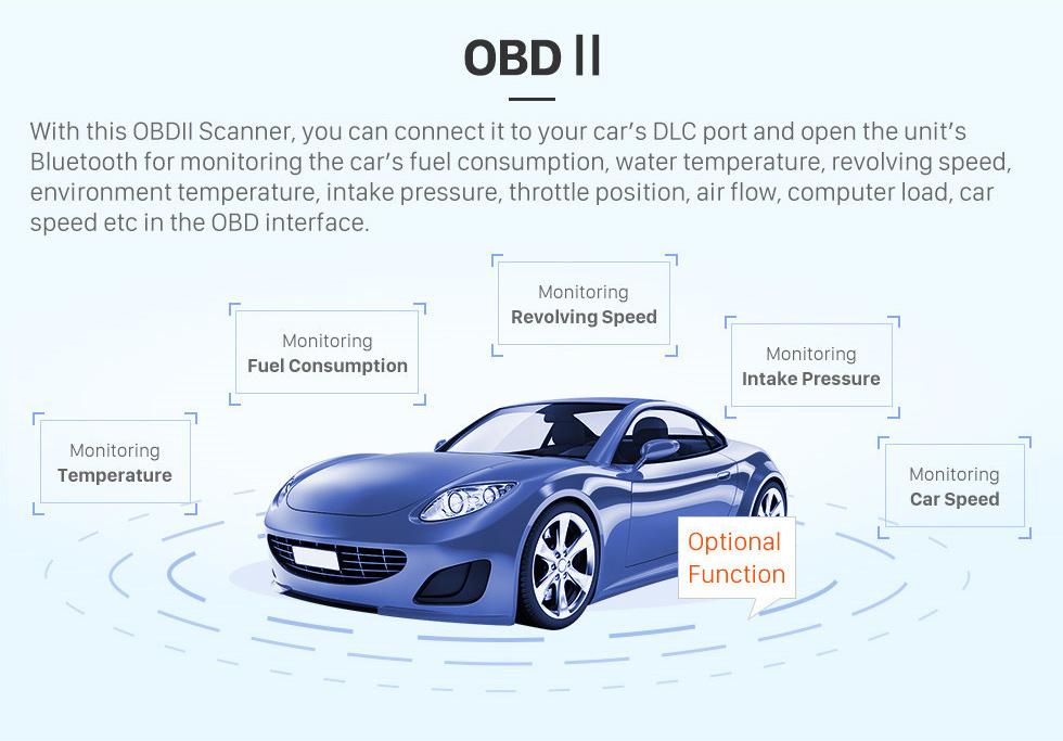 Seicane Pantalla táctil HD de 9 pulgadas Android 10.0 2015 2016 SUZUKI VITARA Radio Bluetooth Navegación GPS Estéreo para automóvil con OBD2 WIFI Cámara de respaldo Enlace espejo Control del volante