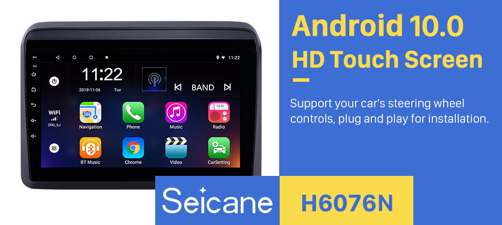 Seicane OEM 9 inch Android 10.0 Bluetooth Radio for 2018-2019 Suzuki ERTIGA with GPS Navigation 1024*600 touchscreen wifi music support Rearview Camera DVR Steering Wheel Control OBD
