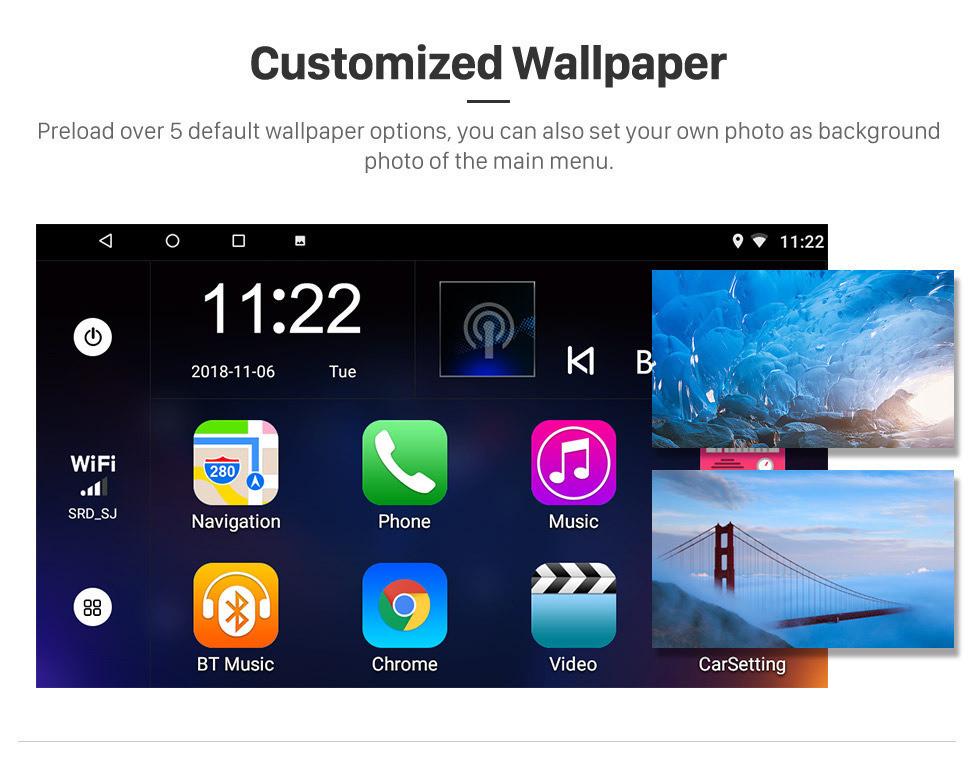 Seicane 2018 Chevy Chevrolet SPARK Android 10.0 HD Écran tactile 9 pouces Buetooth GPS Navi Autoradio de l'unité principale avec AUX WIFI Commande au volant Prise en charge du processeur Caméra de recul DVR OBD
