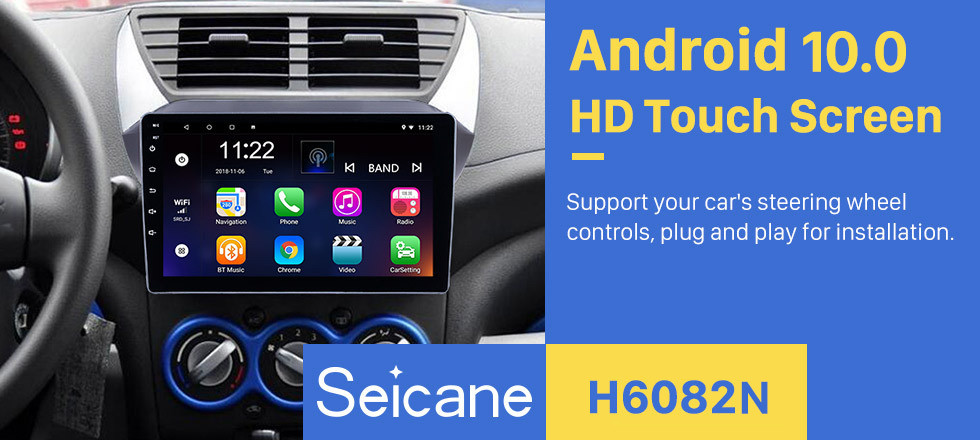 Seicane 9 inch Android 10.0 OEM HD Touchscreen Head unit for 2009-2016 Suzuki alto GPS Navigation Radio USB Bluetooth music support Steering Wheel Control 3G WIFI TPMS DAB+ OBD2