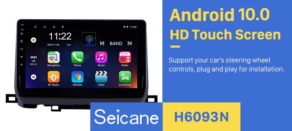 Seicane 2018 KIA SportageR 10.1 inch Android 10.0 HD Touchsreen Bluetooth Auto Radio GPS Navi WIFI Stereo support Steering Wheel Control 3G Module Rearview Camera OBD2