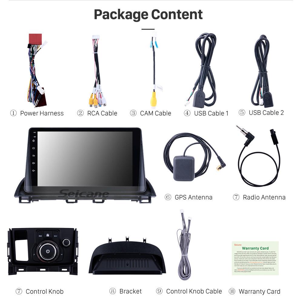 Seicane 9 polegada 8 Núcleo Android 10.0 2014 2015 2016 2017 MAZDA CX-4 Sistema de Navegação GPS de Rádio com HD Touch Screeen USB 3G WIFI Bluetooth suporte de Música OBD2 Espelho Link TV Digital