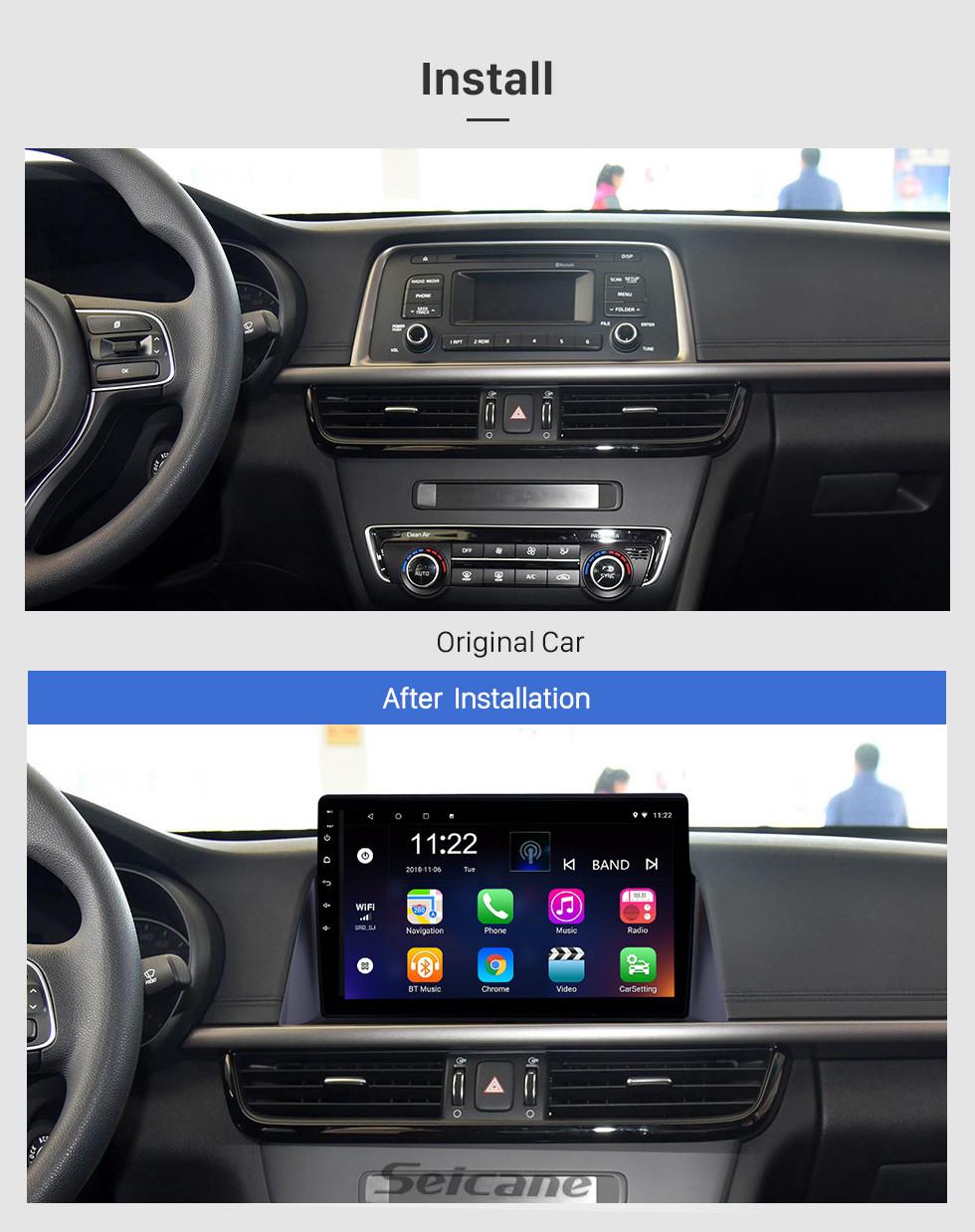 Seicane 10.1 pulgadas Android 10.0 2016 Kia K5 HD con pantalla táctil Radio Bluetooth Sistema de navegación GPS compatible Cámara de reserva TPMS Control del volante TV digital Enlace de espejo