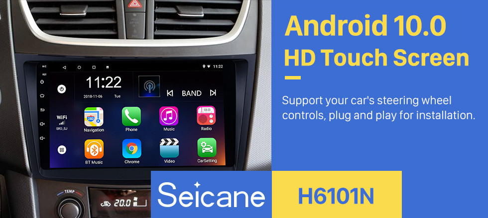 Seicane 9 inch Android 10.0 2011-2013 SUZUKI SWIFT Auto Radio GPS Navigation Audio system Bluetooth Music USB WIFI support 1080P Video OBD2 DVR
