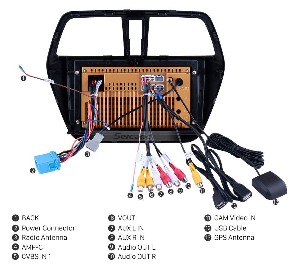 Seicane Android 10.0 9 inch 2014-2017 Suzuki S-Cross SX4 HD Touchscreen Radio GPS Navi Bluetooth support OBD2 DVR 3G WIFI SWC TPMS