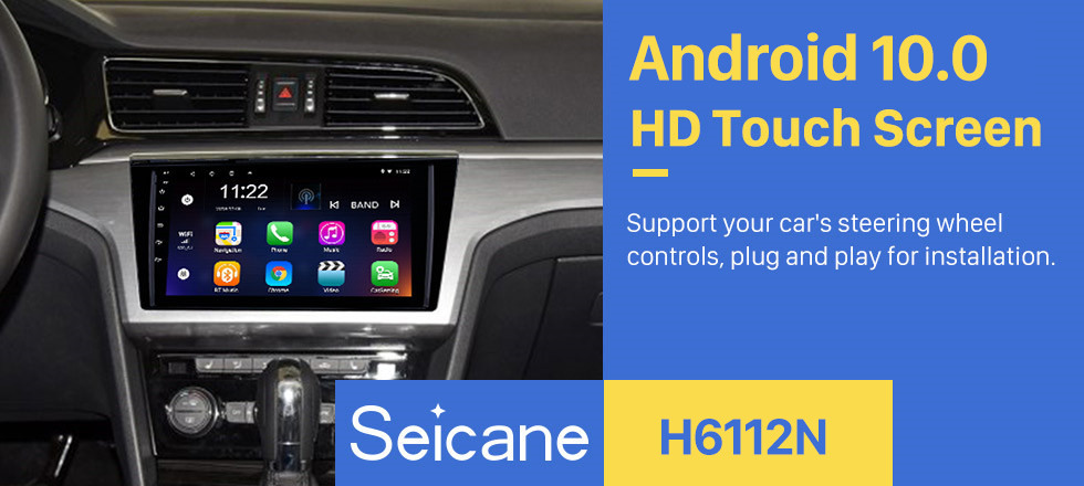 Seicane 9 inch 1024*600 Touch Screen 2015 2016 VW Volkswagen Lamando Android 10.0 Radio with Bluetooth 3G WiFi OBD2 Mirror Link 1080P Steering Wheel Control Rearview Camera