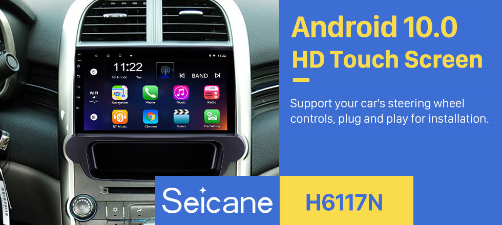 Seicane 9 inch Android 10.0 2012 2013 2014 Chevy Chevrolet Malibu Radio GPS Navigation System with 1024*600 Touchcreen Bluetooth Backup Camera DVR Steering Wheel Control Mirror Link