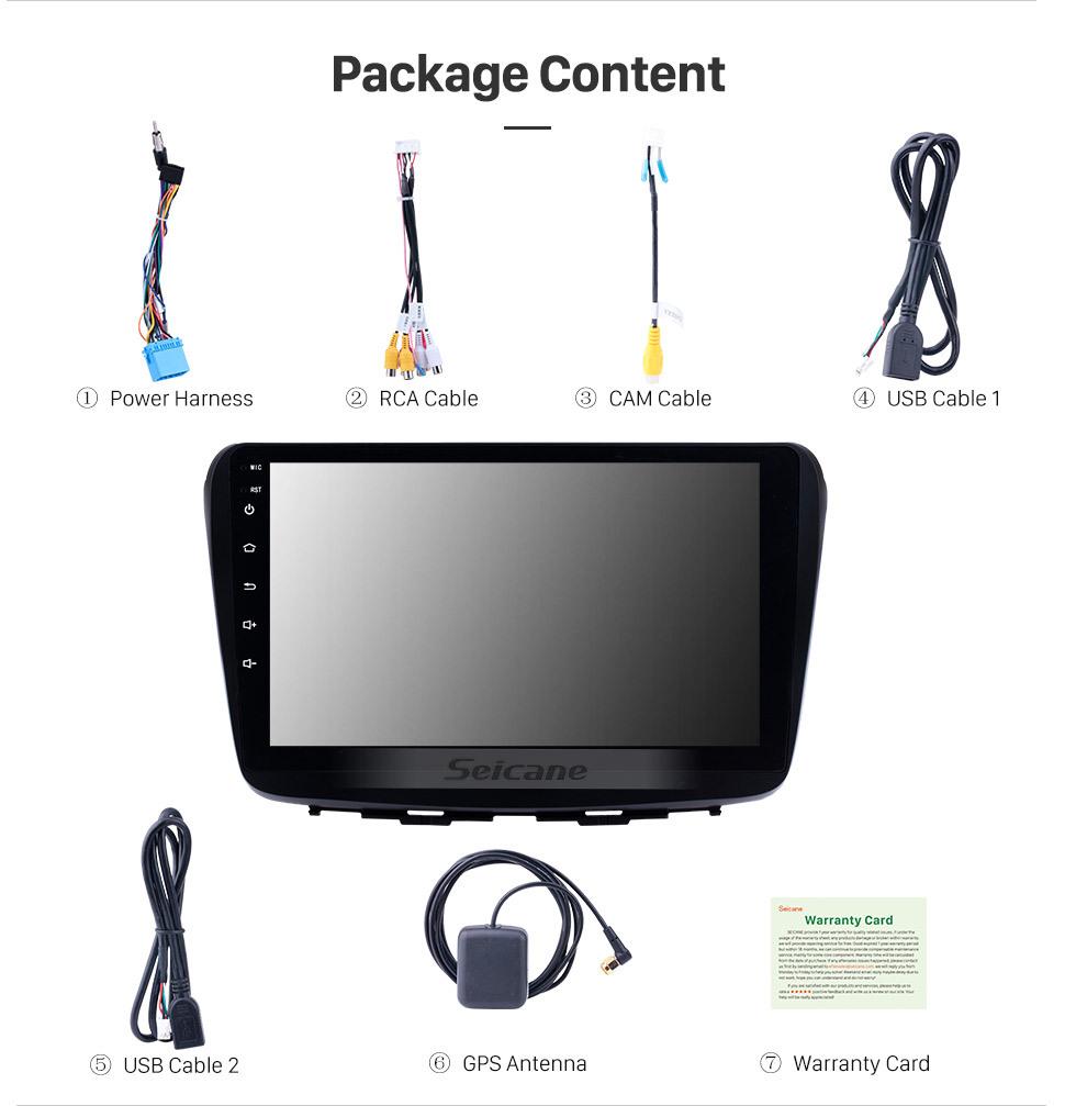 Seicane 9-дюймовый Android 10.0 2016 Suzuki Baleno в приборной панели GPS-навигатор Bluetooth 3G WI-FI Беспроводная камера заднего вида OBD2 Зеркальная связь Управление рулевого колеса