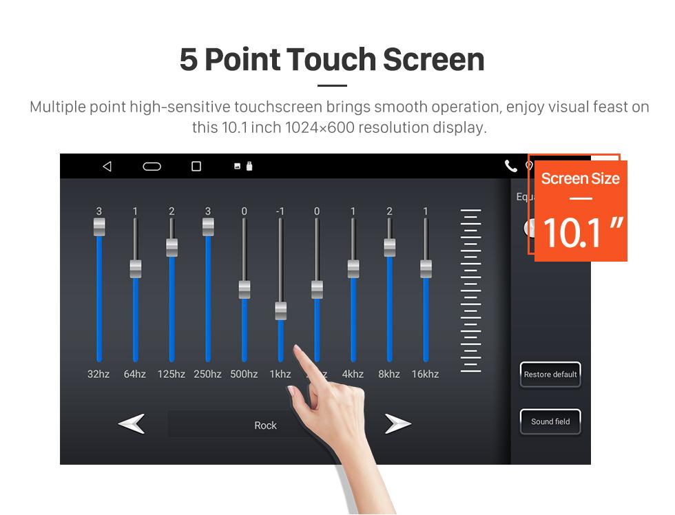 Seicane 10.1 pouces 2018 2019 Hyundai TUCSON Android 10.0 HD écran tactile GPS Navi Radio avec WIFI AUX Bluetooth support RDS Carplay 3G commande au volant