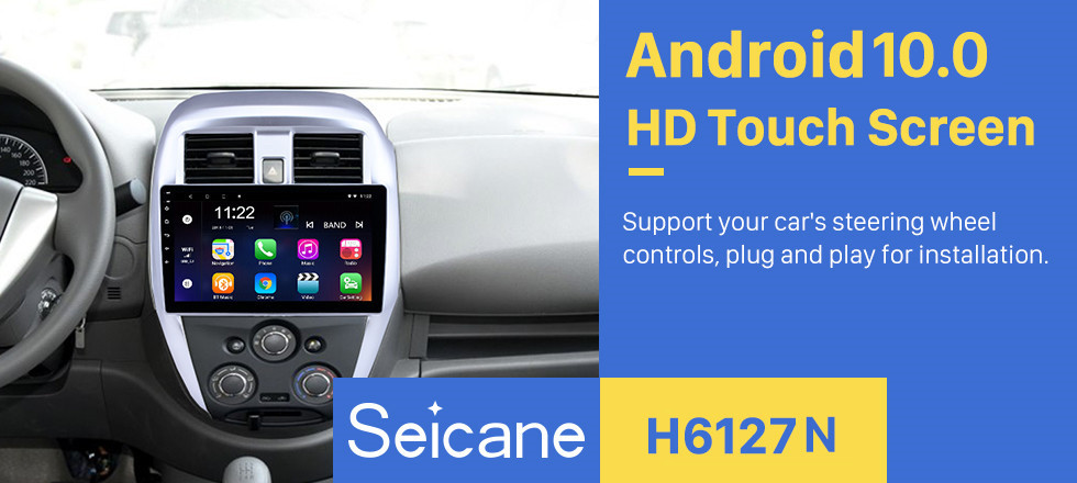Seicane Android 10.0 10.1 Inch 2015 Nissan Old Sunny GPS Navigation HD Touchscreen Radio with Bluetooth WIFI  USB AUX support 3G Rearview Camera DVR Steering Wheel Control