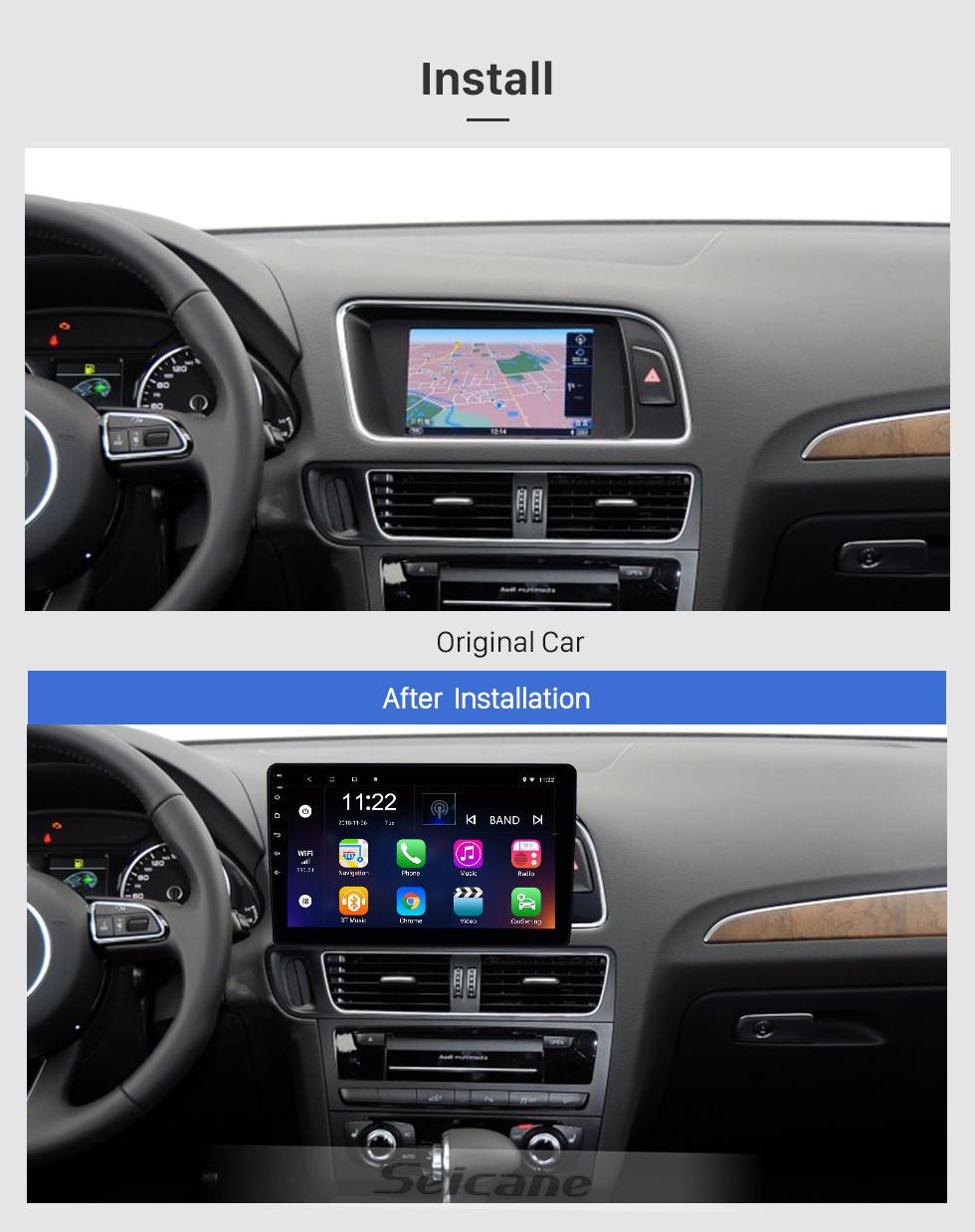Seicane 10,1-дюймовый Android 10.0 GPS-навигатор HD с сенсорным радио для 2010-2017 Audi Q5 с Bluetooth USB WIFI AUX с поддержкой DVR SWC 3G Carplay Камера заднего вида OBD