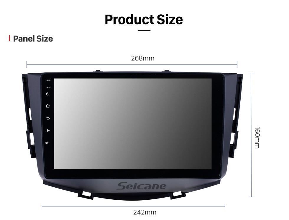 Seicane Écran tactile HD 9 pouces Android 10.0 Radio de navigation GPS pour 2011-2016 Lifan X60 avec support Bluetooth USB WIFI AUX DVR Carplay SWC 3G caméra de recul