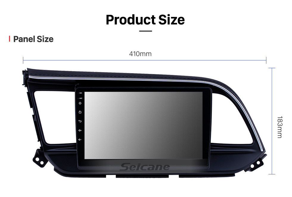 Seicane Android 10.0 9 inch Touchscreen GPS Navigation Radio for 2019 Hyundai Elantra LHD with USB WIFI Bluetooth AUX support Carplay SWC Rearview camera