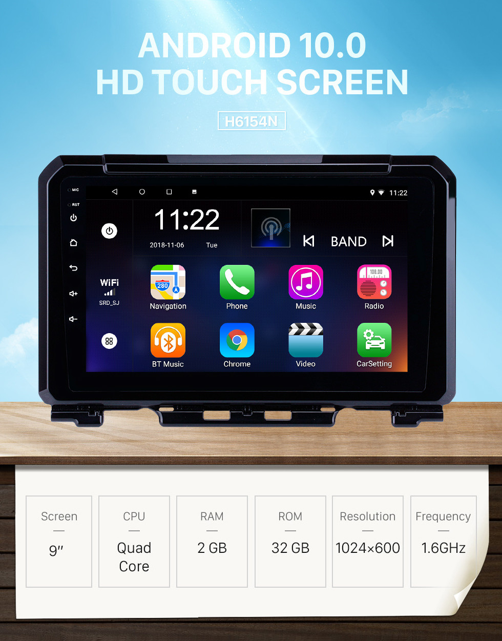 Seicane Hot selling 9 inch HD Touchscreen Android 10.0 2019 Suzuki JIMNY GPS Navigation Radio with USB WIFI Bluetooth support TPMS DVR SWC Carplay