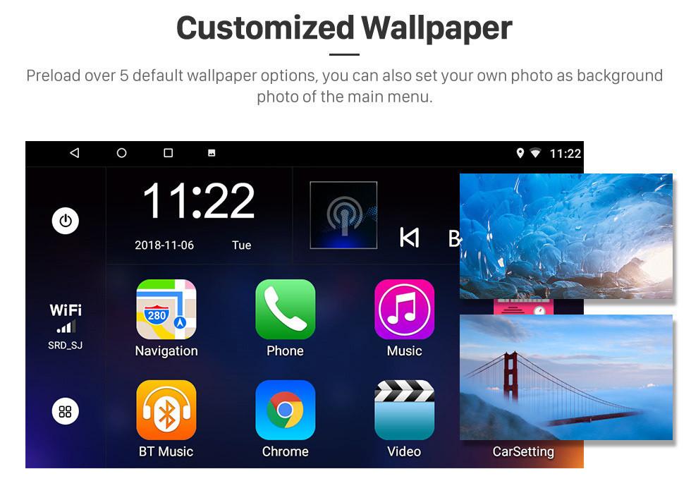 Seicane OEM 9 inch Android 10.0 Radio for 2006-2010 MITSUBISHI LANCER IX Bluetooth Wifi HD Touchscreen GPS Navigation AUX USB support Carplay Backup camera DVR