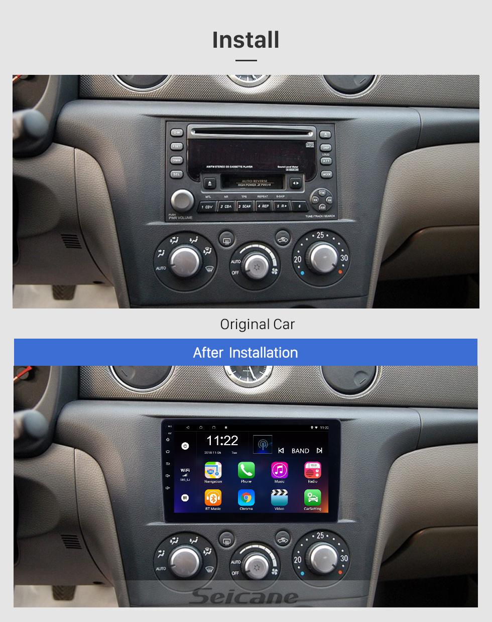 Seicane 2004-2007 Mitsubishi OUTLANDER 9 Zoll Android 10.0 HD Touchscreen Bluetooth Radio GPS-Navigationssystem Stereo USB AUX Unterstützung Carplay 3G Wlan Rückfahrkamera