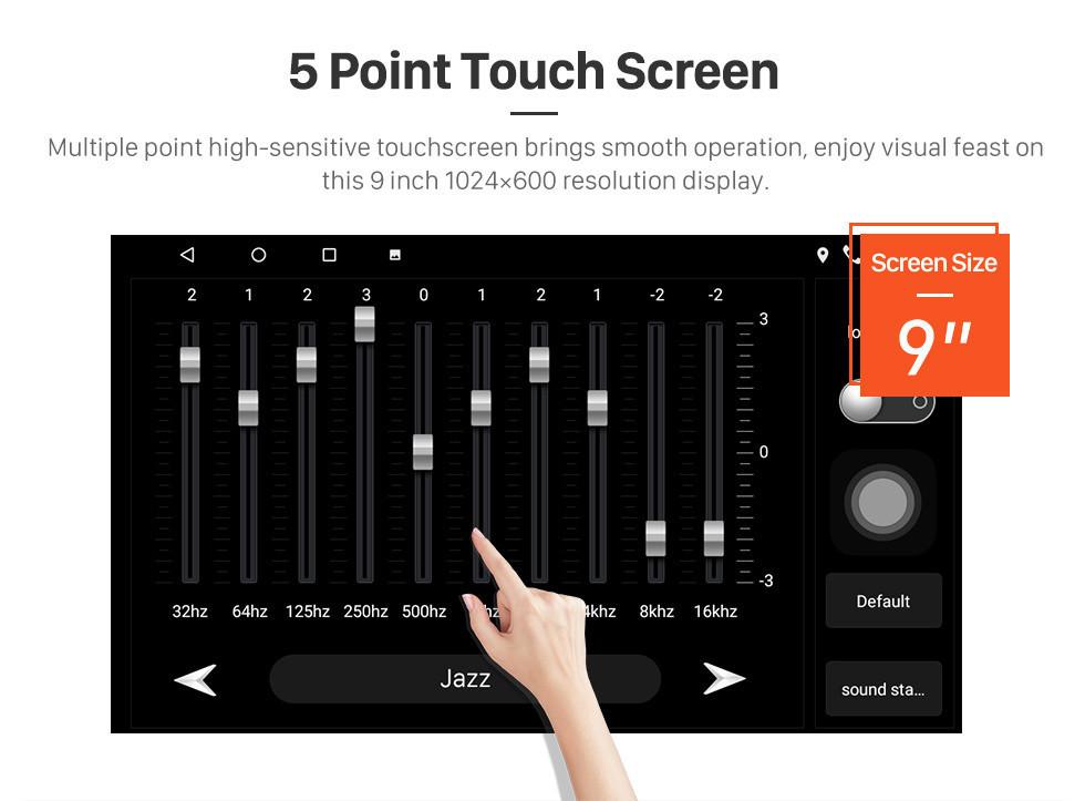 Seicane HD Touchscreen 9 inch Android 10.0 GPS Navigation Radio for 2010 MITSUBISHI PAJERO Sport/L200/2006+ Triton/2008+ PAJERO Sport2 Montero Sport/2010+ Pajero Dakar/2008+ Challenger with USB Bluetooth support Carplay SWC