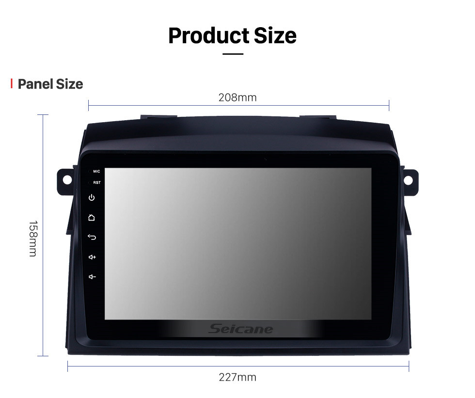Seicane 8 inch 2004-2010 Toyota Sienna Android 10.0 GPS Navigation Radio Bluetooth Music HD Touchscreen support Digital TV Carplay Steering Wheel Control